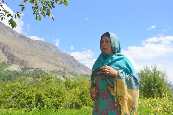 Farmer Shehla Hayat describes how the abrupt shift from summer to winter in the Hunza-Nagar valley in Pakistan's Upper Indus Basin has become a problem for vegetable and fruit farmers like her. TRF/Saleem Shaikh